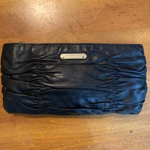 Michael Kors Ruched Leather Clutch